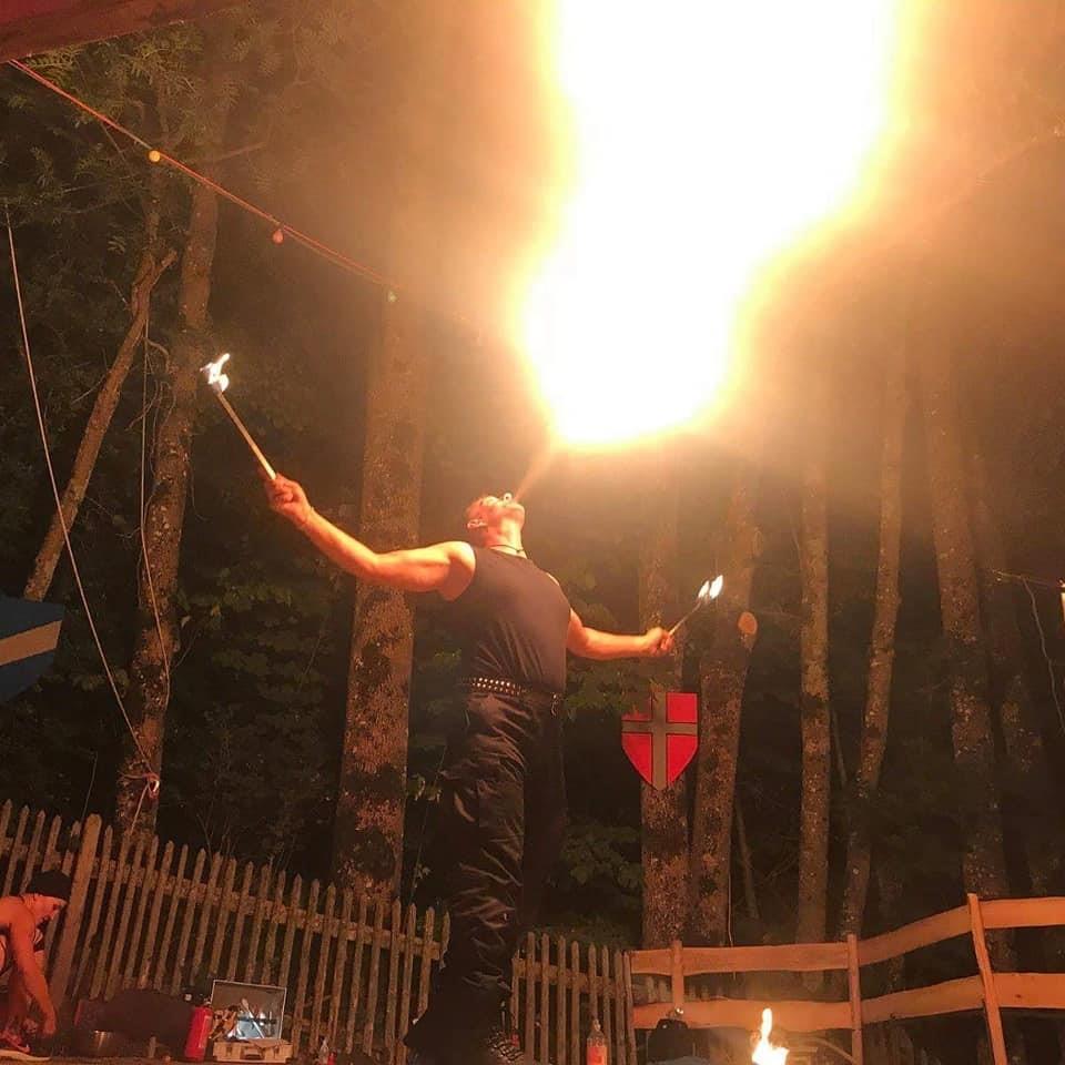 Feuerspucken Grisu